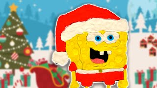 OFFICIAL Santa Spongebob Claus Super Simple Play doh Christmas Draw Clay Plastilina Stop Motion