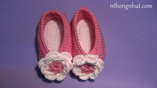 Hướng dẫn móc giày cho bé 3-6 tháng (engsub)