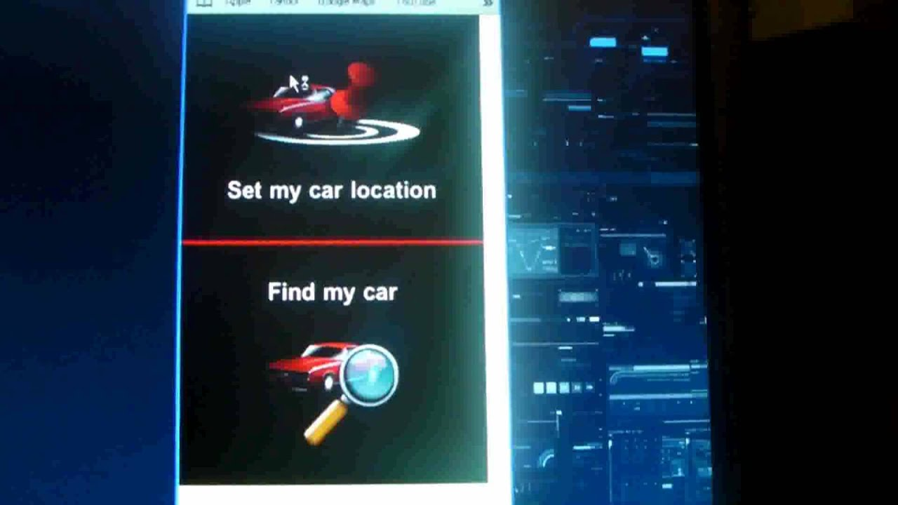 how to use find my car app