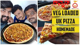 Homemade Pizza Recipe | Veg Loaded Pizza | Cheese Pizza | Unbox Karnataka | Kannada Food Review
