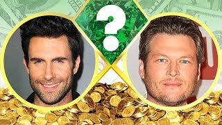 WHO'S RICHER? - Adam Levine or Blake Shelton? - Net Worth Revealed! (2017)