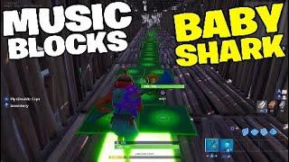 Baby shark - Fortnite music blocks.Creative mode