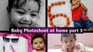 Creative Baby Photoshoot Ideas at home part 3