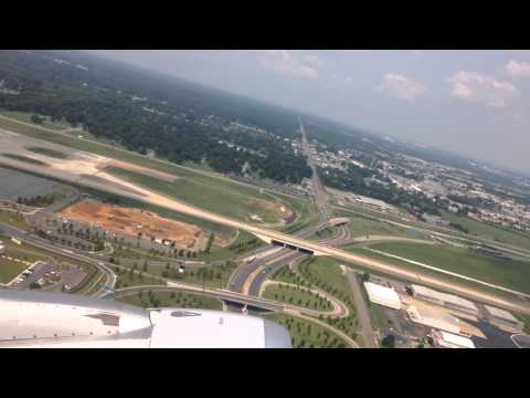 American Airlines Flight 1677 from Memphis to Dallas-Fort Worth takeoff.