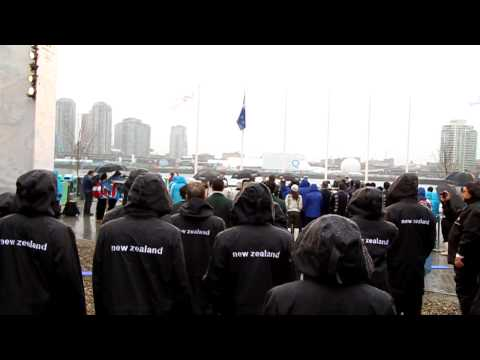 New Zealand Olympic Team - Flag Raising Ceremony at the Vancouver 2010 Olympics