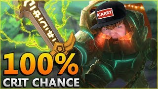 THE DEADLIEST ANCHOR!! 100% Crit + Max Atk Spd ADC Nautilus - Season 8 League of Legends
