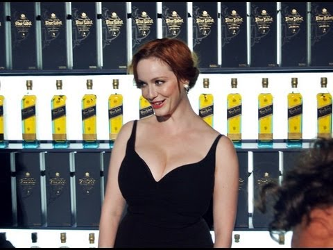 Christina Hendricks the 1st Johnnie Walker Blue Label Game Changer #WCRio @WorldClassLive