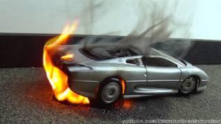 Toy Jaguar XJ220 Flaming Burnout FAIL || Engine Fire