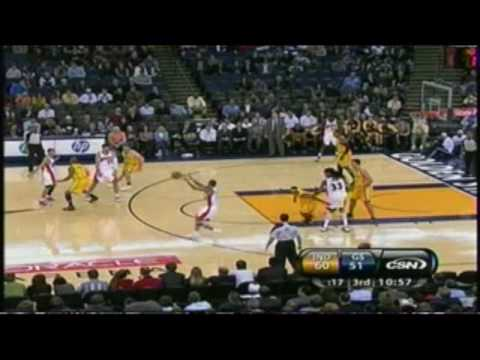 Monta Ellis - Career High 45 points vs Pacers (11/30/2009) Video