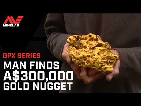 Man finds AUD $300.000 gold nugget with a Minelab GPX Series detector