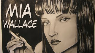 Dibujo a Mia Wallace | Drawing Mia Wallace