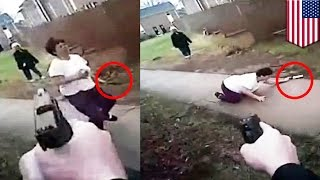 Bodycam footage shows the moment cop shoots Vietnamese immigrant holding a meat cleaver