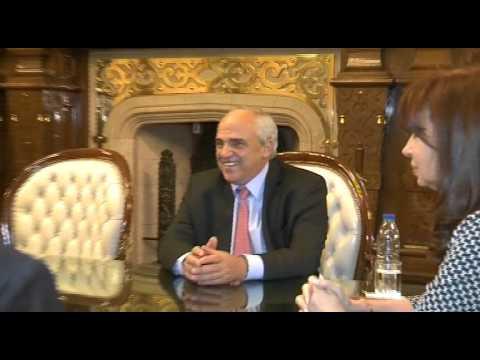 17 de SEP. Cristina Fernández mantuvo una audiencia con el Secretario General de la UNASUR