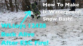 WLtoys 12428: Snow Fun After ESC Fire Damage Repair & Waterproofing!