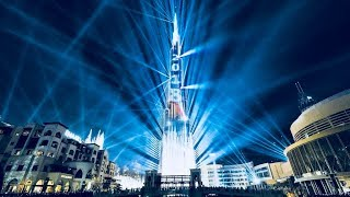 Dubai, UAE Burj Khalifa Laser Show 2018 I New Year Celebration I HD