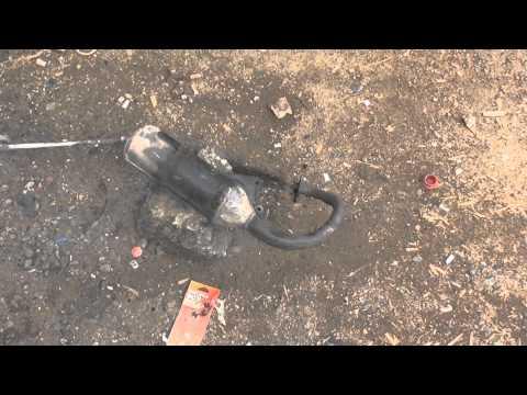 Как быстро почистить выхлопную трубу у японских двух тактных мопедов