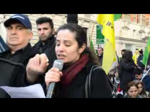 Kurdish sit-down protest outside French Embassy 2013-01-11 2