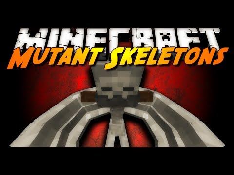 Minecraft Mod Review: MUTANT SKELETON BATTLE! (Mutant Creatures Mod)