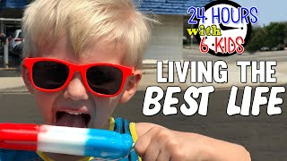 24 Hours with 6 Kids Living the Best Life!