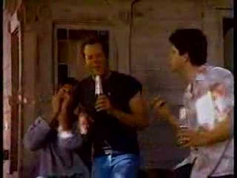 Bruce Willis Seagrams Commercial (Singing on Porch) Video