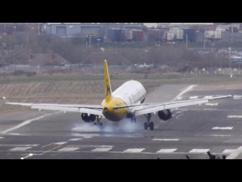 Aborted landing (with touchdown) in crosswind