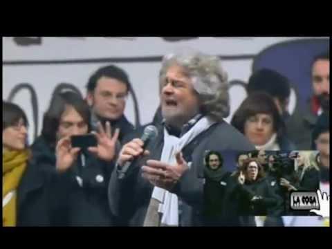 """Beppe Grillo – ROMA """"Tsunami Tour 22 feb 2013″ 1/4"""