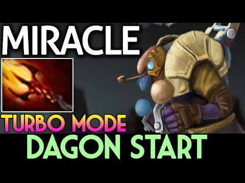 TURBO MODE DAGON START   Miracle- Plays Tinker Party Dota 2 7.07