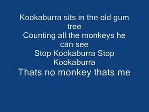 Kookaburra sits in the old gum tree song lyrics