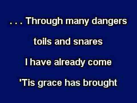 Amazing Grace, Gospel Music, Karaoke Video With On Screen Lyrics video