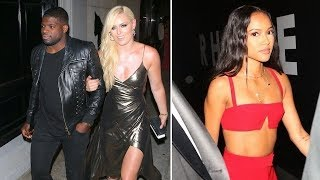 Lindsey Vonn Stuns In Metallic Dress As She Dines At Craig