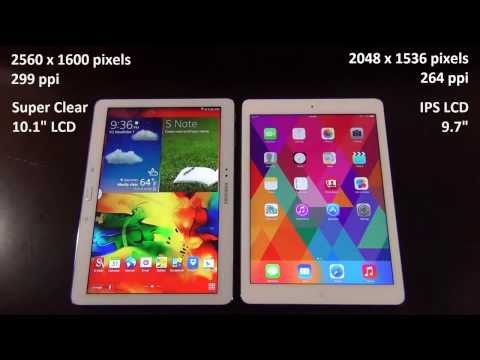 iPad Air vs Samsung Galaxy Note 10.1 2014 Edition: Full Comparison