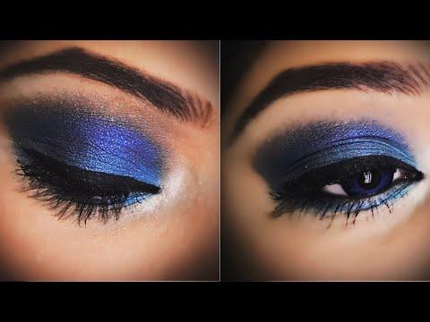 Diwalog Day 5 - Blue & Teal Glam Dramatic Eyes in हिनदी | Traditional Diwali Makeup | Diwali 2018