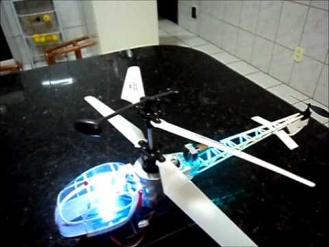 Helicóptero Lightning Da Candide com Bateria de LIPO 2S