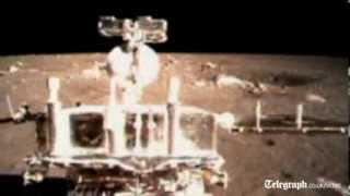 Footage released of China Jade Rabbit moon landing