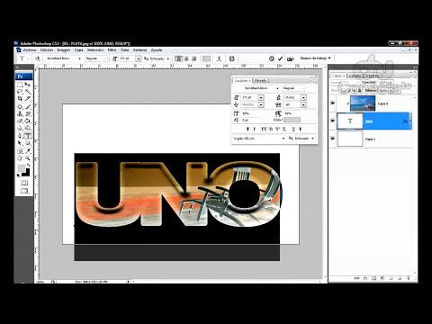 Tutorial Photoshop: Imagen dentro de texto