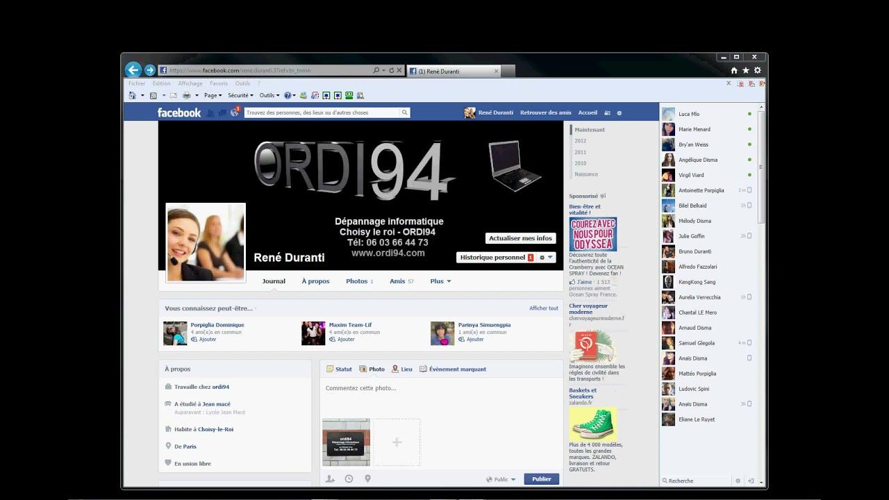 Comment mettre une photo sur facebook youtube - Comment mettre une credence ...