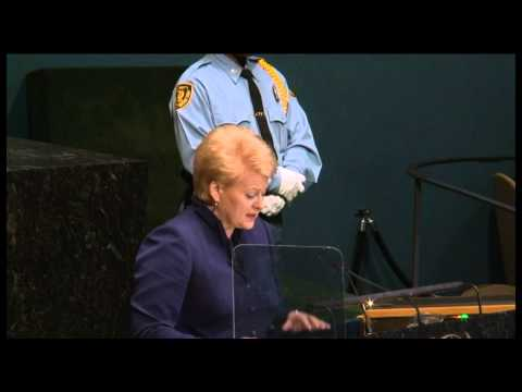 President Dalia Grybauskaite addressed UN General Assembly 2012 09 25