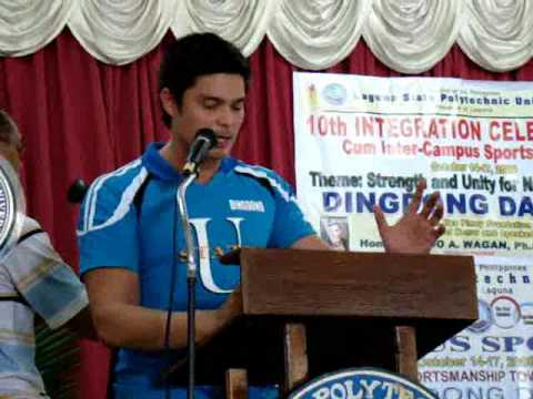 Dingdong Dantes and Marian Rivera at LSPU