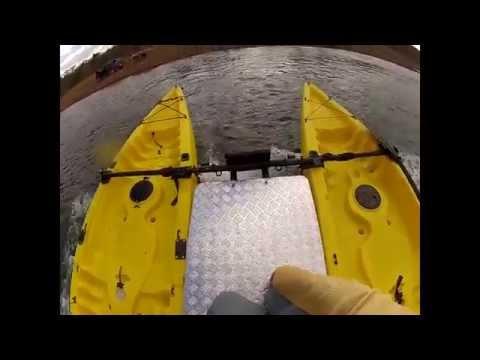 Teste Drive Caiaque Orca II - Lontras - Catamaran 8HP