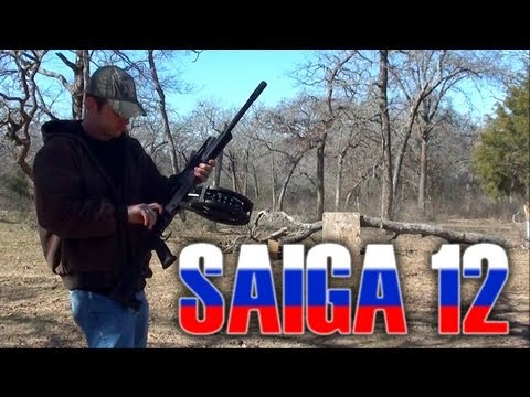 Saiga 12 shotgun, 30 round drum!!! (Alliance Armament 12 gauge)