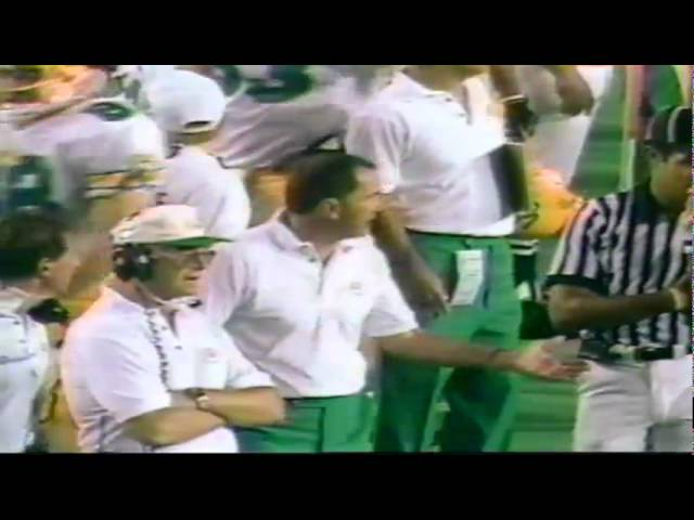 Oregon safety Eric Castle INT called back, Daryle Smith INT on next play 9-14-91