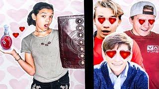 Rykel makes a boyfriend! LOVE POTION FAIL! Magic Spell Book Episode 2