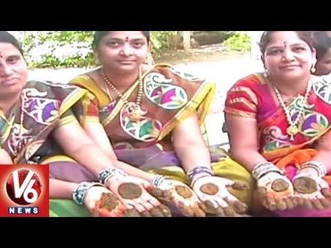 Ashada Masam Gorintaku Festival Celebrations In Siddipet District | V6 News