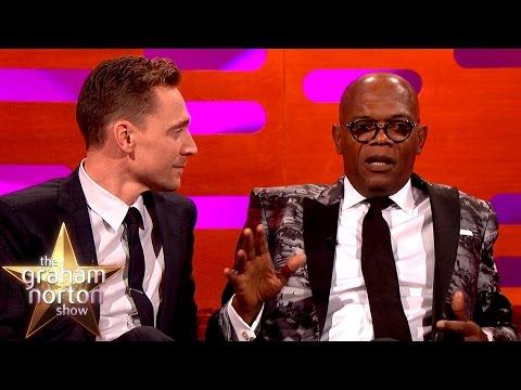 Tom Hiddleston Totally Fangirls Samuel L Jackson - The Graham Norton Show