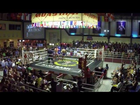 Barabinot from France, Pinyo Muay Thai (Red corner) - PhetchBuncha Stadium 15/08 -15