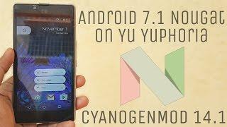 Android 7.1 Nougat (CM 14.1) on Yu Yuphoria