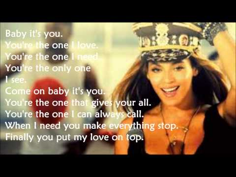 Beyoncé Love On Top (lyrics) video