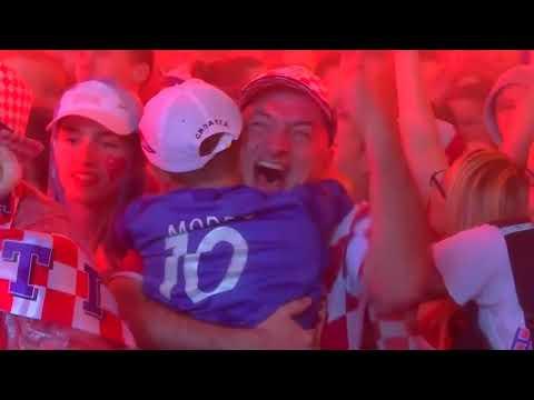 Croatia fans celebrate win over England thumbnail