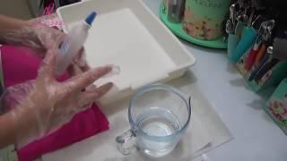 Como Engomar Tecido para Forminhas de Doces