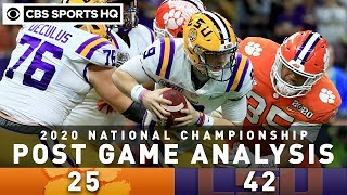 National Championship '20 Post Game Analysis: LSU unseats Clemson in historic season | CBS Sports HQ